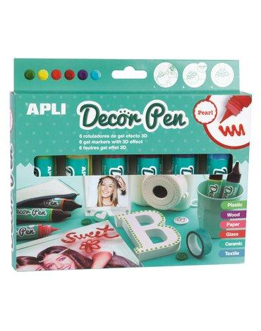 Markery żelowe z efektem 3D Apli Kids - Perłowe 6 kolorów