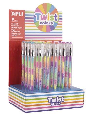 Apli Kids - Długopis żelowy Apli - Twist Colors