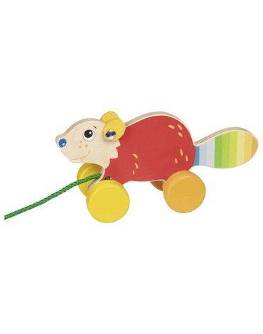 Goki® - Drewniana zabawka do ciągnięcia bóbr
