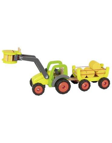 Goki® - Ciągnik z wozem do siana i  ładowaczem czołowym