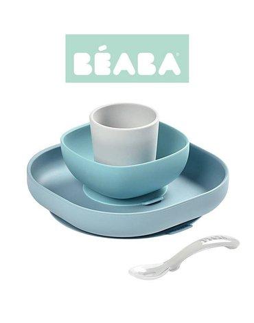 Beaba - Komplet naczyń z silikonu z przyssawką Jungle