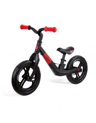 Czarno-czerwony rowerek biegowy Movino Magnesium Pro