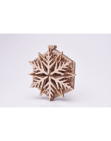 Wood Trick - Puzzle 3D śnieżynka