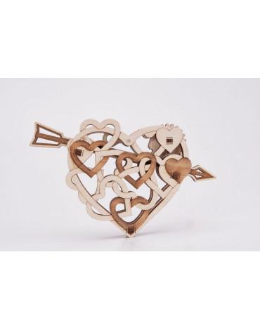 Wood Trick - Puzzle mechaniczne serduszko