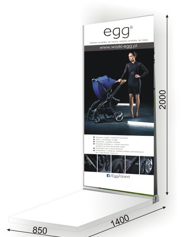Podium Egg + Rollup dwustronny wbudowany