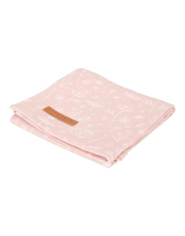 Little Dutch Otulacz 120 x 120 cm Wild Flowers pink TE50421050