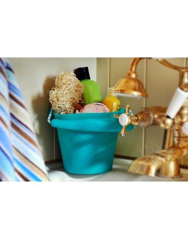 Funkit world - Składane wiaderko do wody i piasku Scrunch Bucket - Wiśniowy