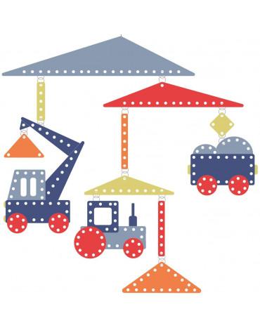 Djeco - Mobil papierowy POJAZDY BUDOWLANE DD04345