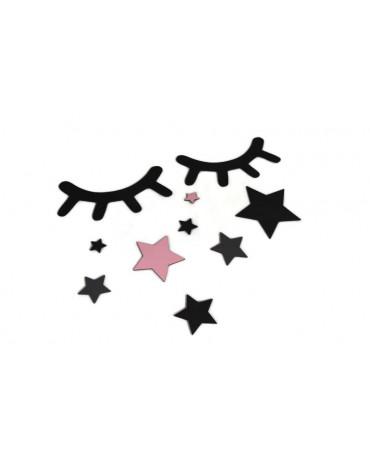 AdamToys - Oczka z różowymi gwiazdkami