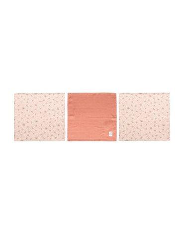 bebe-jou Chusteczki bambusowo-muślinowe 32 x 32 cm (3 szt.) Wish Pink 3053060