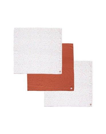 bebe-jou Chusteczki bambusowo-muślinowe 32 x 32 cm (3 szt.) Hearts 3053061