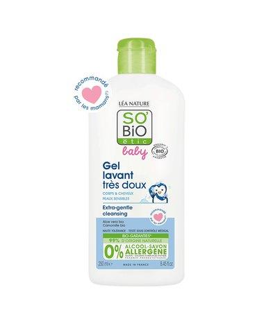 So Bio etic - SO BIO, Organiczny płyn do mycia ciała i włosów dla niemowląt i dzieci, 250 ml