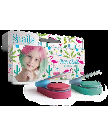 Zmywalne kredy do włosów Hair Chalk 2 szt Snails - Flamingo