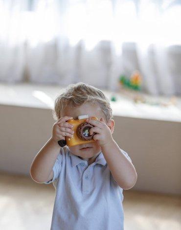 Plan Toys - Aparat fotograficzny - barwy sadu