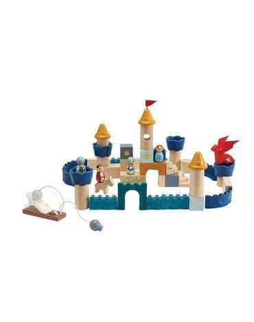 Plan Toys - Klocki zamek rycerski - barwy sadu