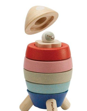 Plan Toys - Układanka rakieta - barwy sadu