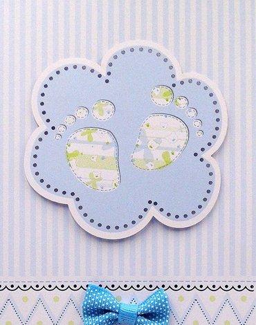 Kartki z Kotem - DL NR/004 Karnet z okazji Narodzin Syna