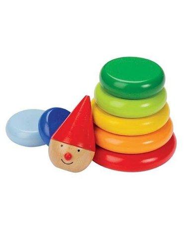 Goki® - Magnetyczna piramidka Pajacyk Nimo, kolorowa układanka, Goki 58928