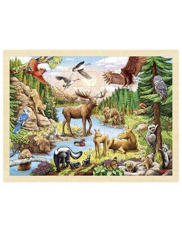 Goki® - Puzzle Zwierzęta Północnoamerykańskie, Goki