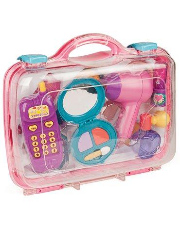 Miniland - zabawki edukacyjne - Zabawkowy zestaw kosmetyczny w walizeczce - salon urody