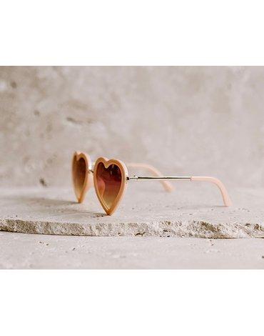 Okulary przeciwsłoneczne Elle Porte Classic - Heart Peach 3-12 lat
