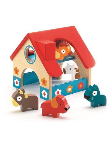 Djeco - Drewniana zabawka mini farma DJ06388