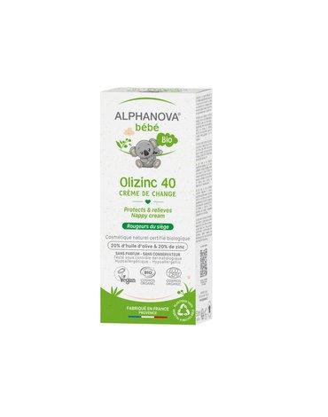 Alphanova Bebe, Krem przeciw odparzeniom, Olizinc 40, 50 g