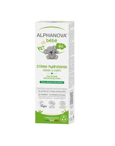Alphanova Bebe, Nawilżający krem do twarzy i ciała, 75 ml