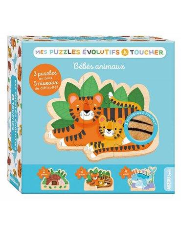 Auzou Puzzle ewolucyjne dotykowe Zwierzątka 89312