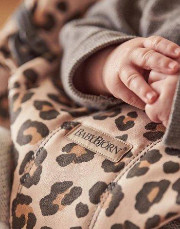 BABYBJORN - leżaczek BLISS COTTON, Beż/Leopard