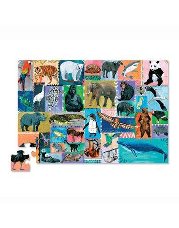 Crocodile Creek® - Memory i Puzzle Zagrożone gatunki 48 el.