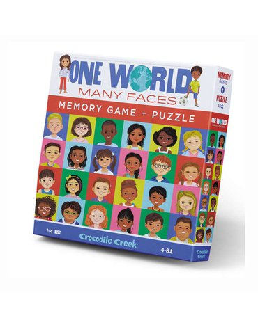 Crocodile Creek® - Memory i Puzzle Jeden świat - wiele twarzy 48 el.