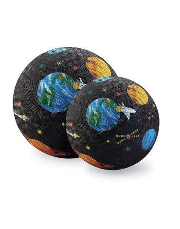 Crocodile Creek® - Piłka 18cm, wzór wyprawa kosmiczna, CC