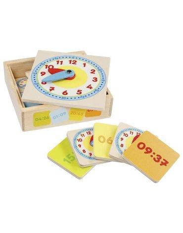 Goki - Zegar w skrzyneczce z tabliczkami