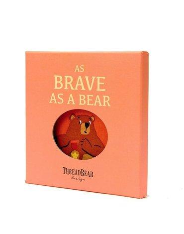 Miękka książeczka AS BRAVE AS A BEAR, ThreadBear Design