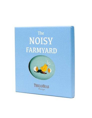 Miękka książeczka THE NOISY FARMYARD, ThreadBear Design