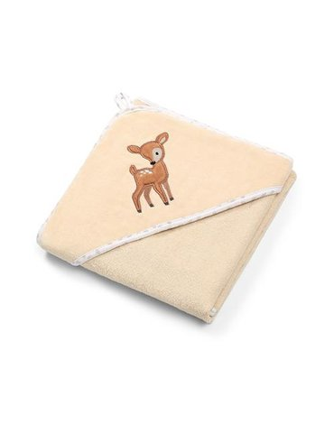 BABYONO - 540/05 Okrycie kąpielowe welurowe – ręcznik z kapturkiem 100x100cm