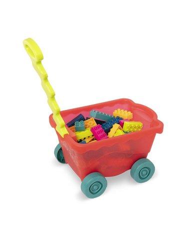 B.Toys  - Little BlocWagon – wózek-WAGONIK wypełniony kolorowymi KLOCKAMI