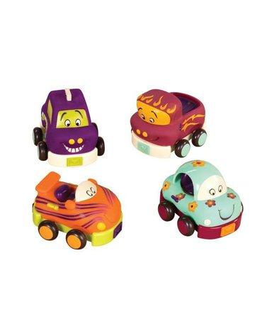 B.Toys  - Autka miękkie - zestaw - czteropak