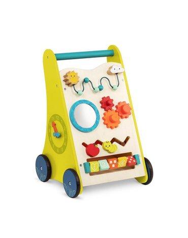 B.Toys  - Walk 'n' Learn – drewniany chodzik-pchacz edukacyjny