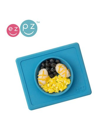 EZPZ Silikonowa miseczka z podkładką 2w1 Mini Bowl niebieski