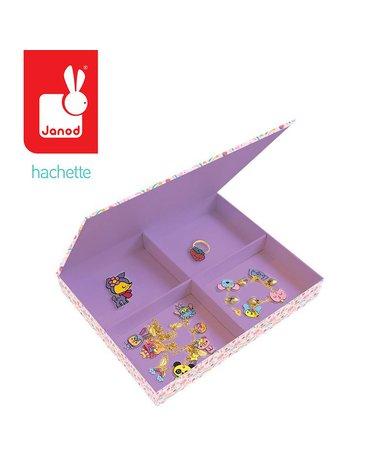 Zestaw kreatywny do tworzenia biżuterii z kurczliwego plastiku Słodkie zwierzaki Kawaii 7+, Janod