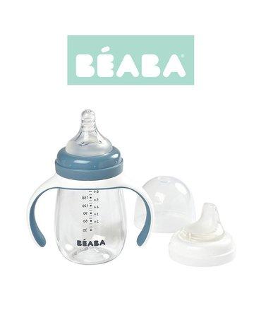 Beaba Butelka treningowa 2 w 1 tritanowa 210 ml windy blue