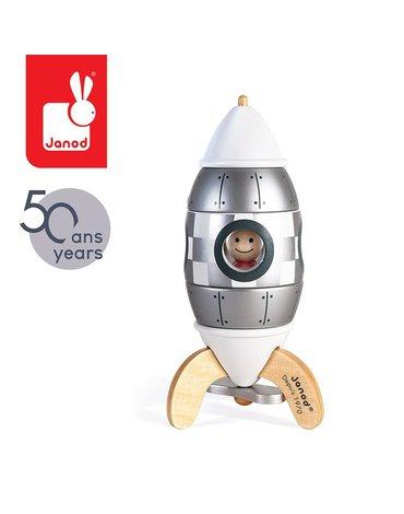 Srebrna rakieta drewniana magnetyczna Edycja limitowana, Janod