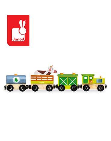Pociąg drewniany Farma Story, Janod