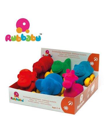 Rubbabu Zestaw 6 sensorycznych zwierzątek - pojazdów (opakowanie zbiorcze 6 szt.)