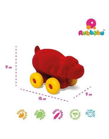 Rubbabu Pies pojazd sensoryczny czerwony