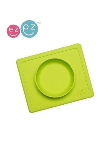 EZPZ Silikonowa miseczka z podkładką 2w1 Mini Bowl zielony