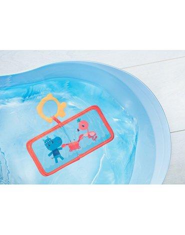 LILLIPUTIENS Książeczka do kąpieli z gryzakiem Lew Jack 6 m+ Lilliputiens