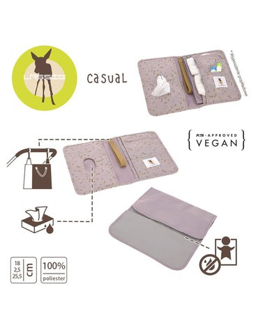 Lassig Casual Label Przewijak podróżny z etui na akcesoria Flowers lilac